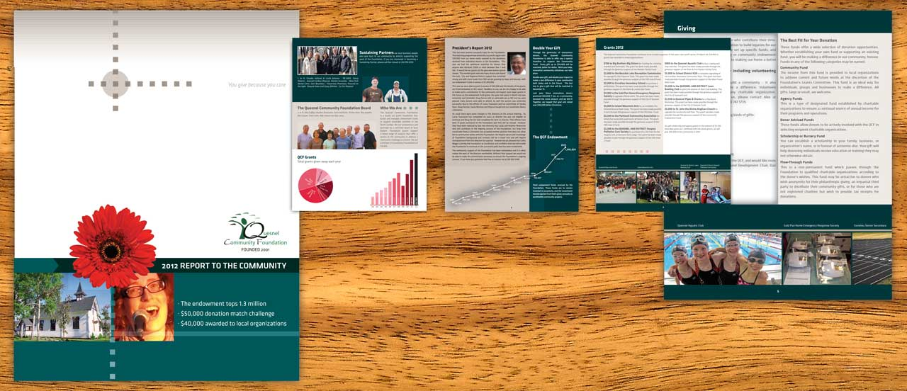 South Hill Graphics - Booklet design for Quesnel, Williams, Lake, Prince George, Vanderhoof